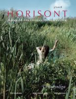 Horisont nummer 3 2018 omslag